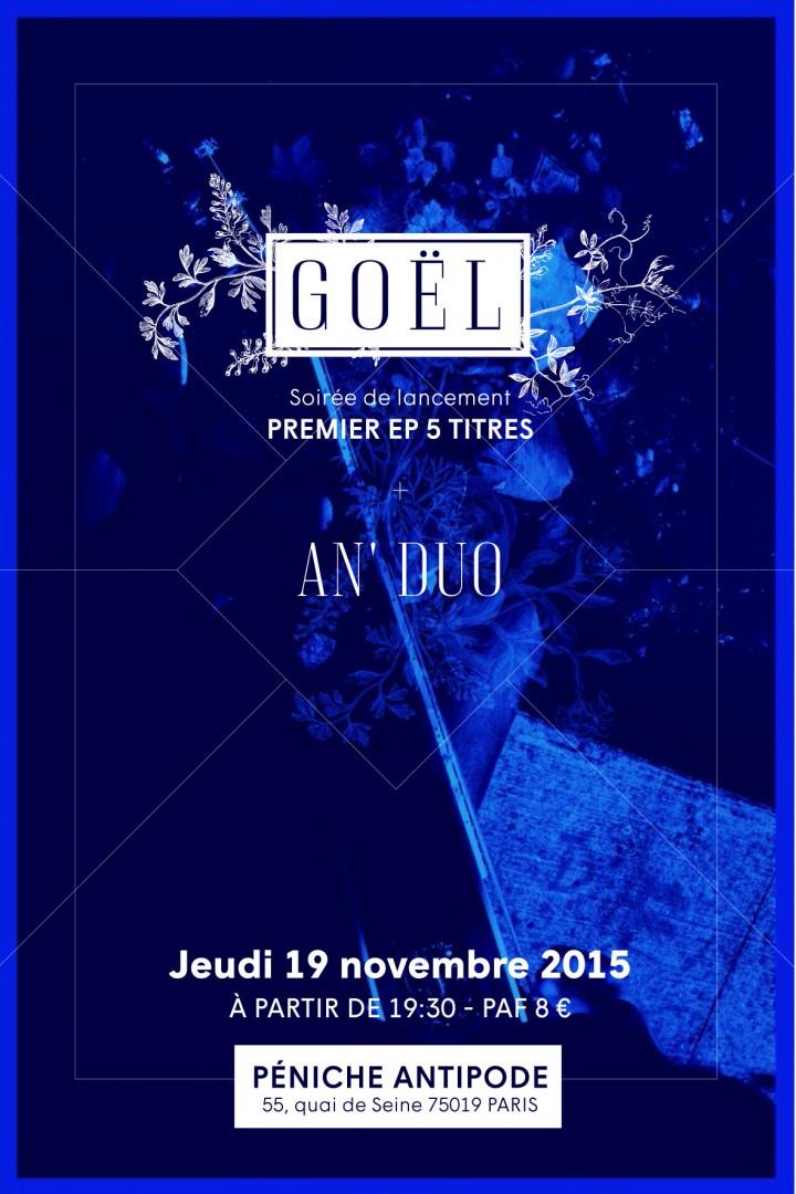 Flyer soirée de lancement - EP Goël